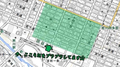 旭川駅周辺・煉瓦建築が多いとこらへん.jpg