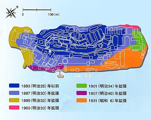 軍艦島拡張工事年代別図.jpg