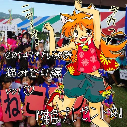 703話・かんなみ猫おどり2014・夕実ちゃん・シロにゃん2.jpg