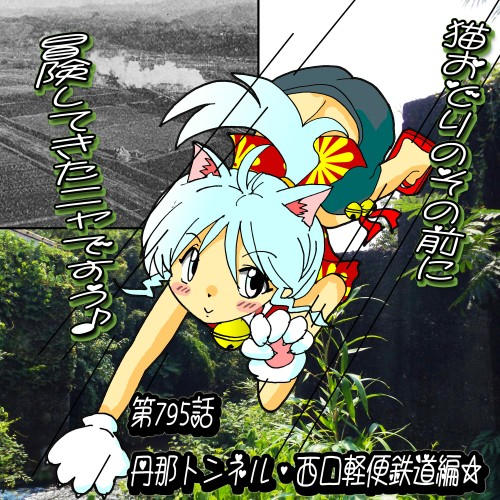 第795話・夕実ちゃん・猫おどり2015・丹那隧道西口軽便鉄道跡編☆2.jpg